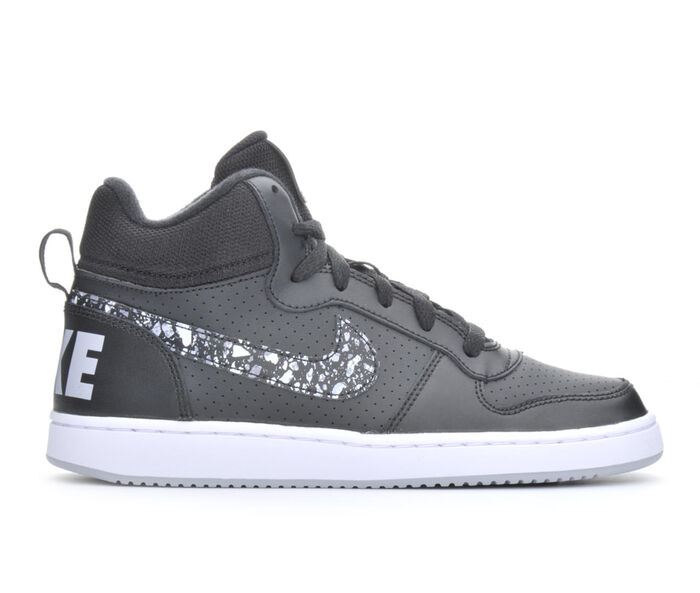 Boys' Nike Court Borough Mid Print 3.5-7 Sneakers