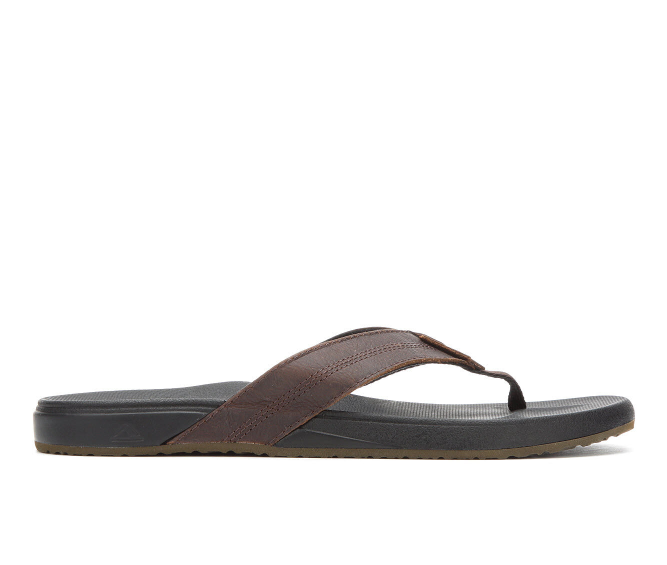 Men's Reef Cushion Bounce Phantom Leather Flip-Flops Black/Brown
