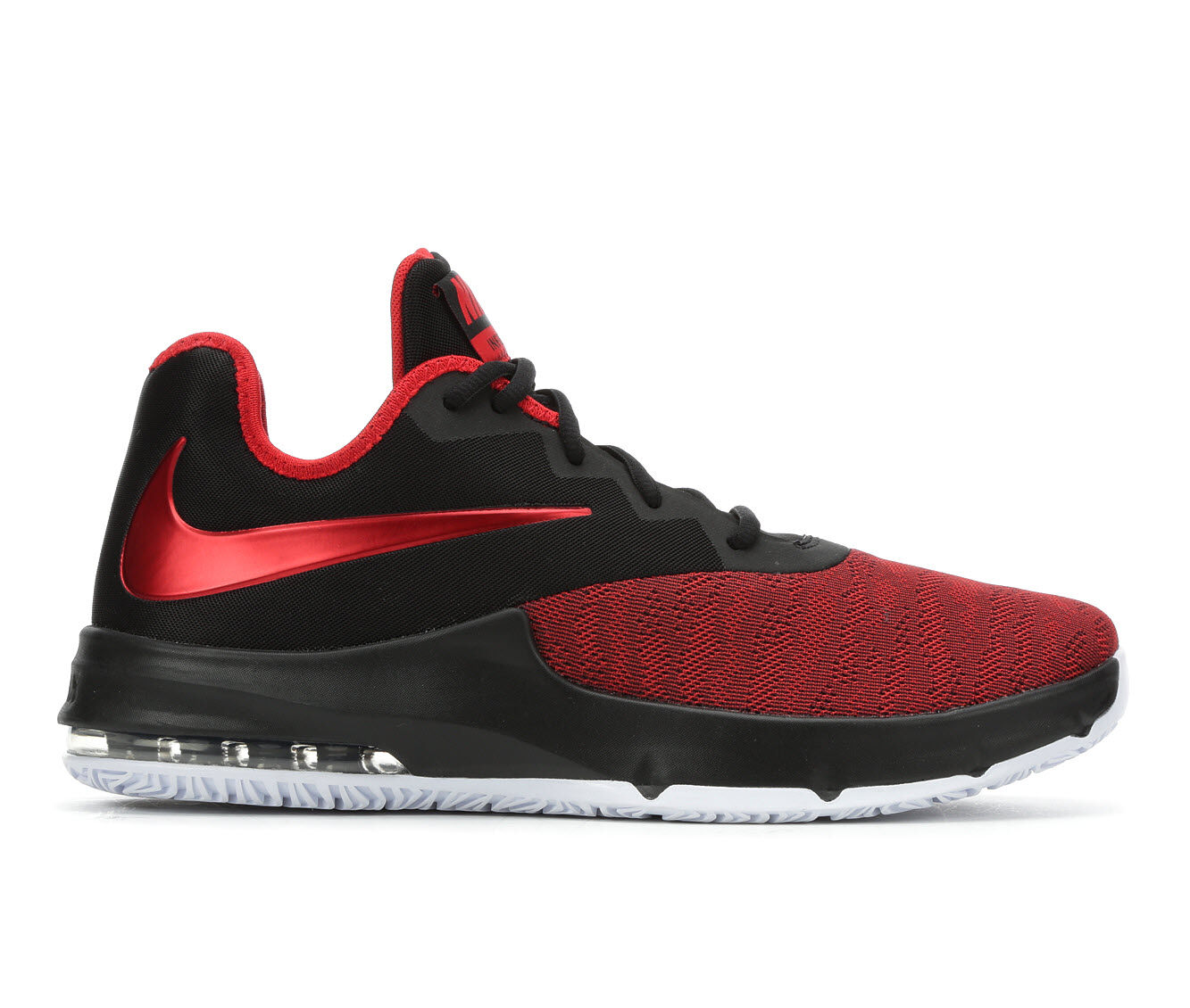 Men's Nike Air Max Infuriate III Low Basketball Shoes Red/Blk/Wht 003