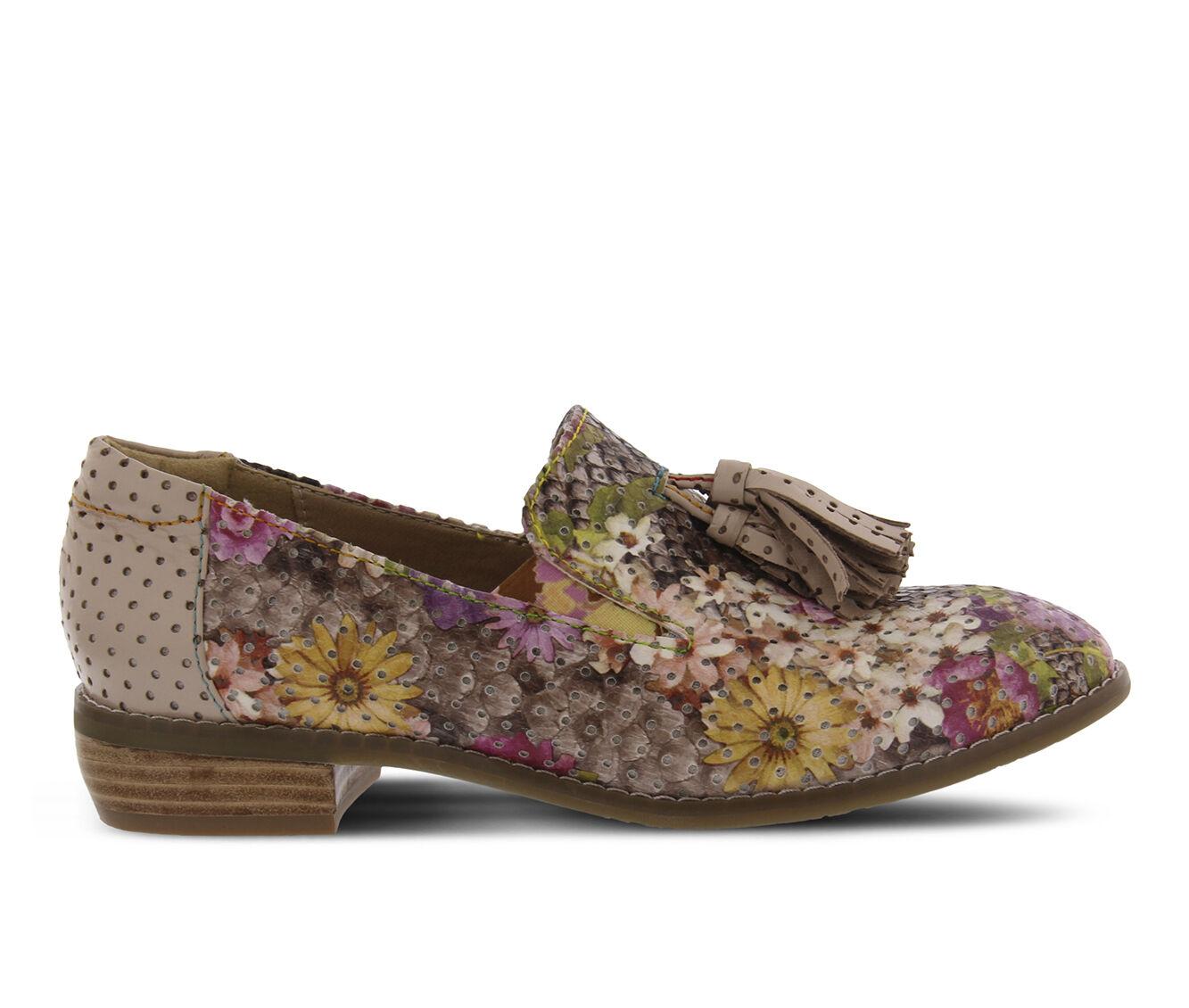 cheap sale Women's L'ARTISTE Klasik-Flower Shoes Taupe Multi