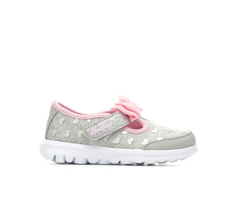 Girls' Skechers Go Go Walk Bitty Luxe 5-10 Sneakers