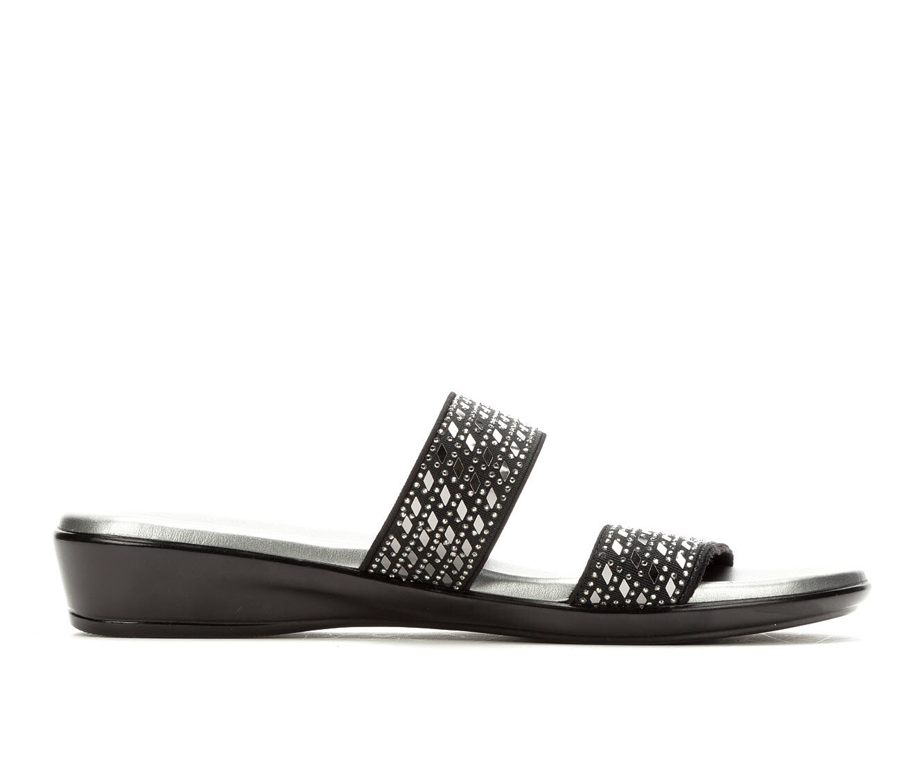Women's Italian Shoemakers Clay Sandals Black/Pewter