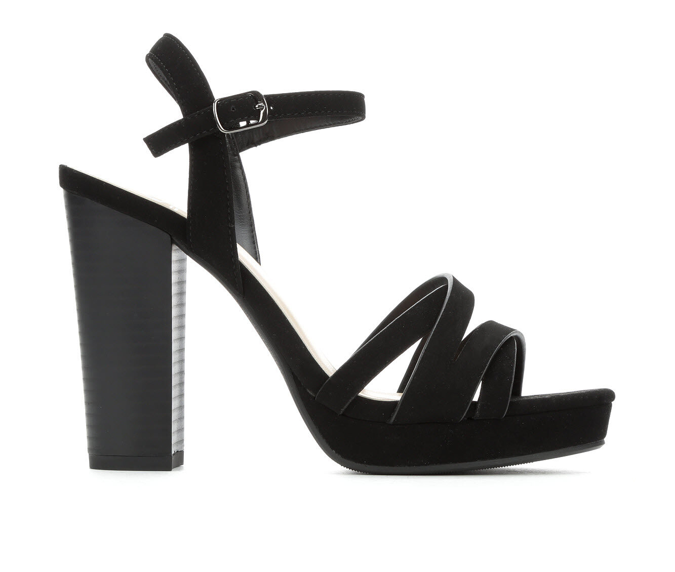 Women's Delicious Sunday Dress Sandals Black Nub
