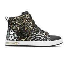 Girls' Skechers Little Kid & Big Kid Shoutouts Leopard Ombre High Top Sneakers