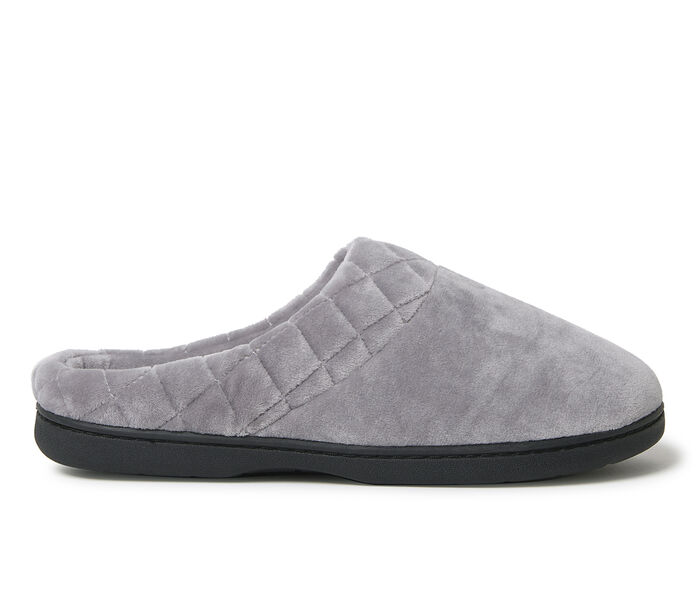 Dearfoams Velour Clog with Quilt Cuff Slippers