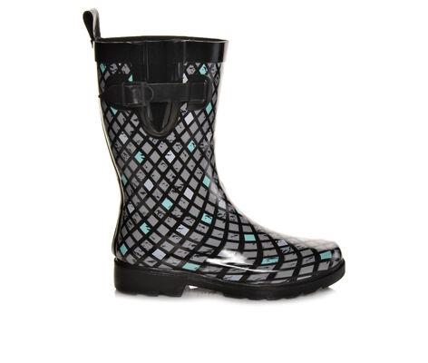 Women's Capelli New York Multi Diamond Lattice Mid Shaft Rain Boots