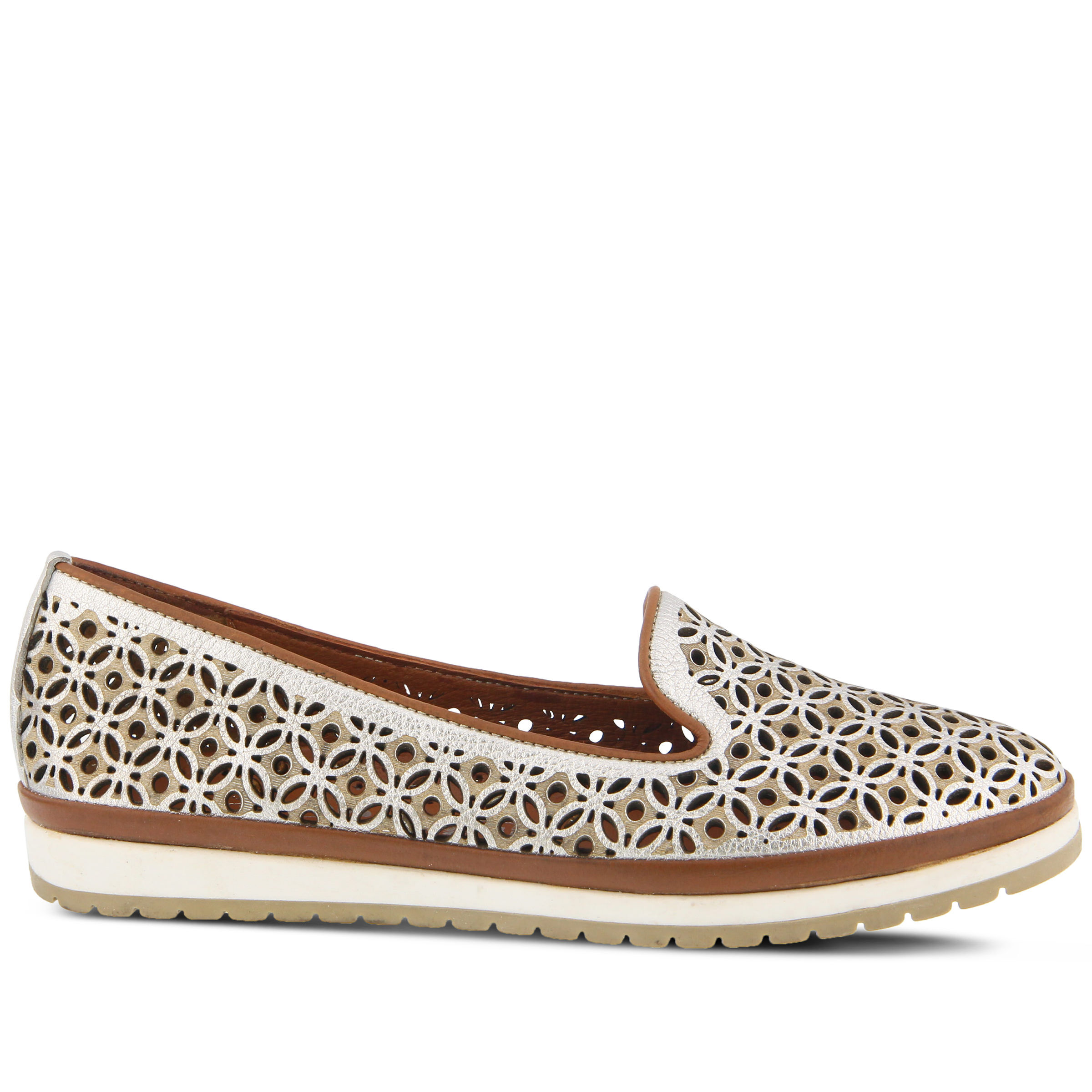 cheapest Women's SPRING STEP Tulisa Flats Silver