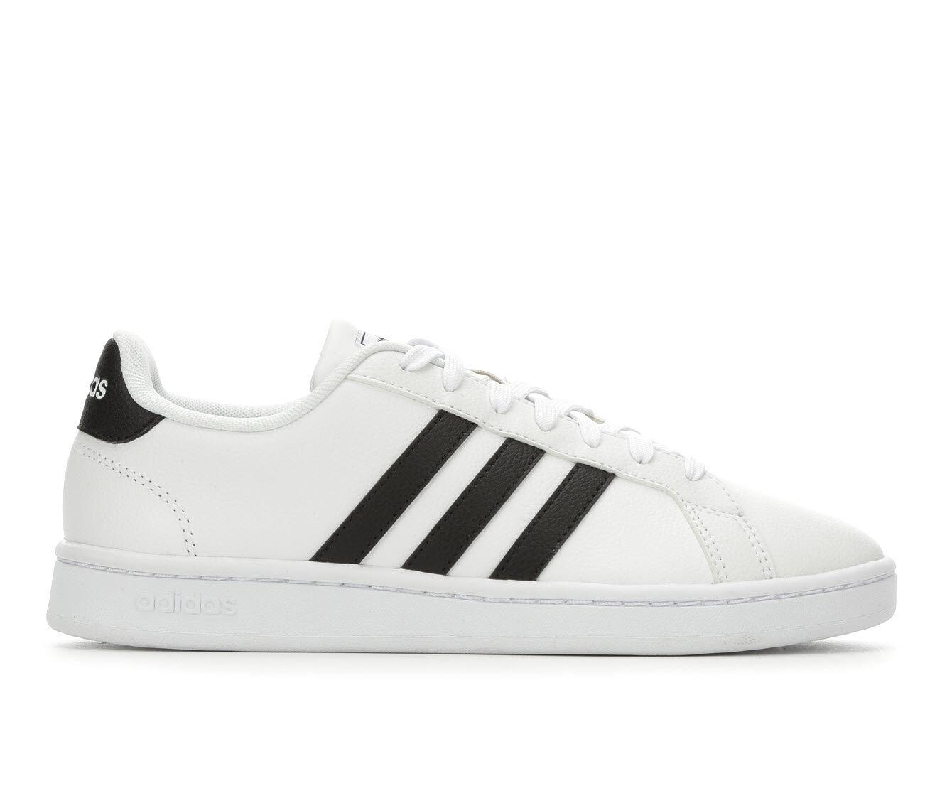 Women's Adidas Grand Court Basketball Shoes White/Black
