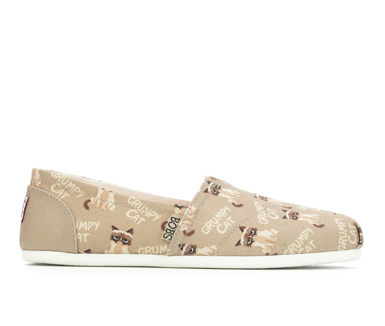 Women's BOBS Crabby Kitty Canvas Shoes Tan