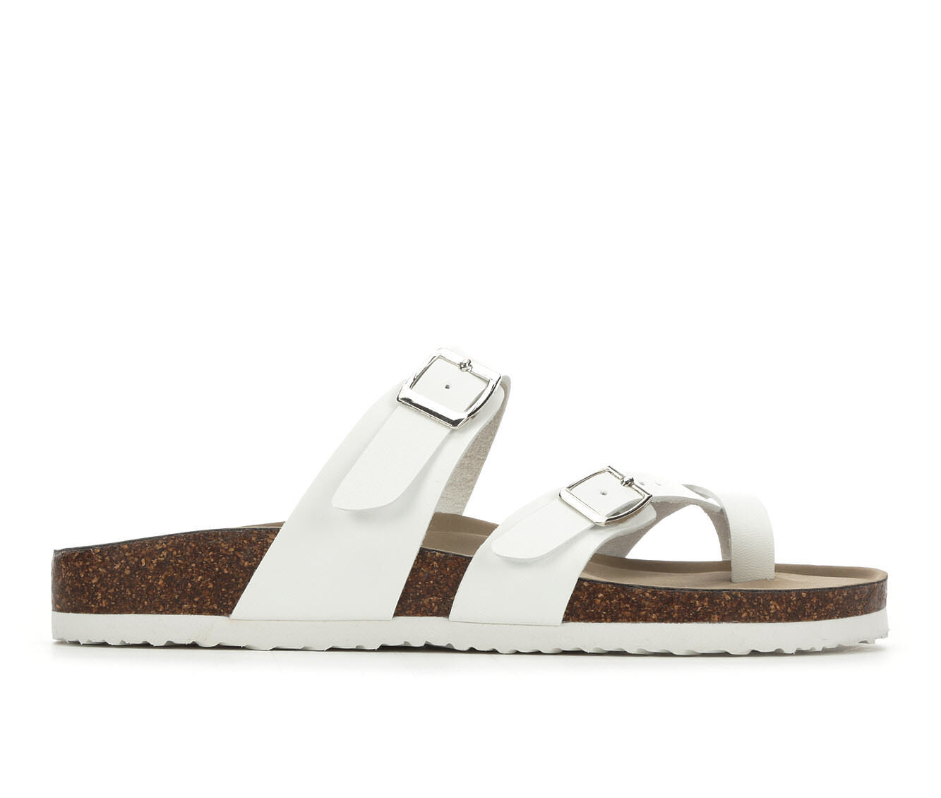 Women's Madden Girl Bryceee Footbed Sandals White/White