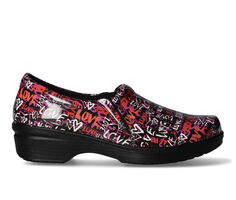 Women's Easy Works by Easy Street Tiffany Pink Love Graffiti Safety Shoes
