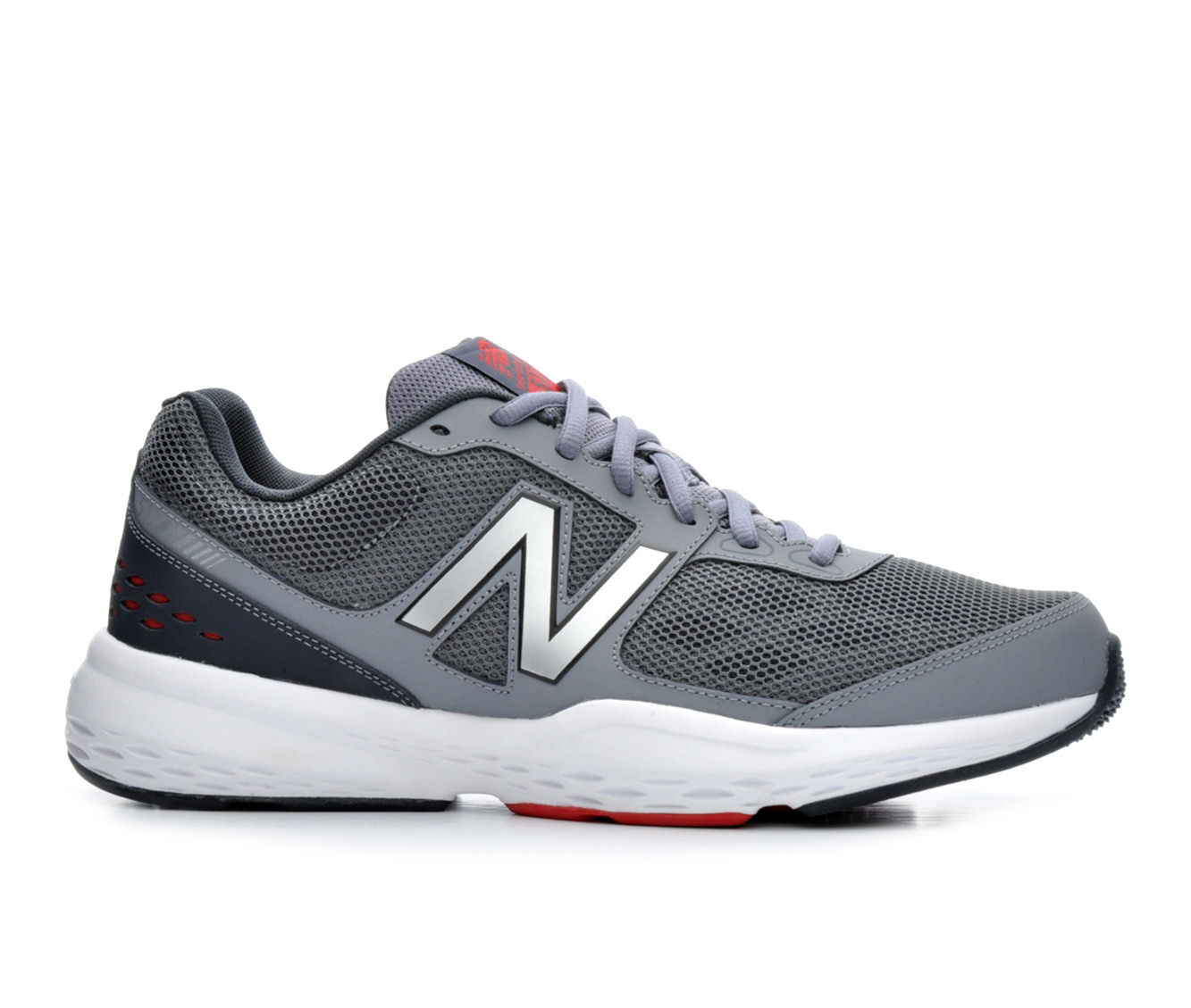 Men's New Balance MX517 Training Shoes Gry/Wht/Red