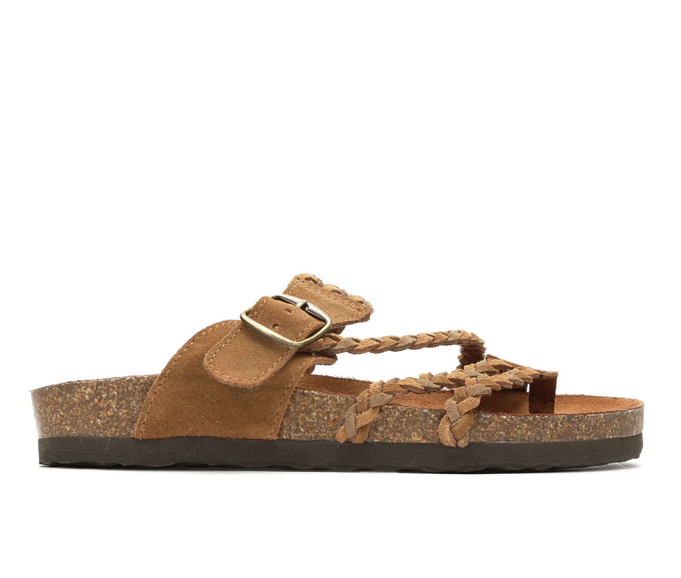 Women's White Mountain Helena Strappy Footbed Sandals Tan/Chestnut