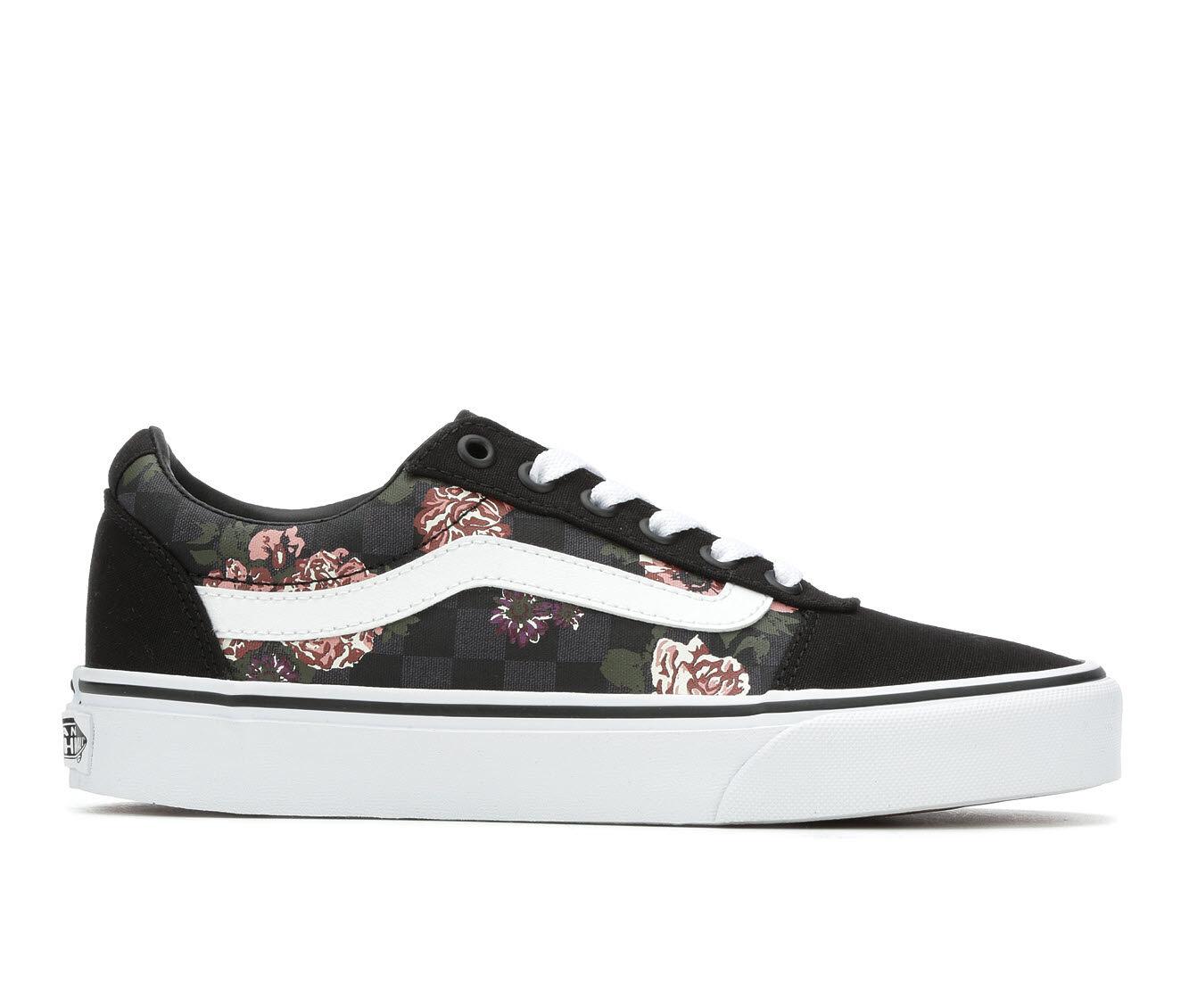 Women's Vans Ward Floral Check Skate