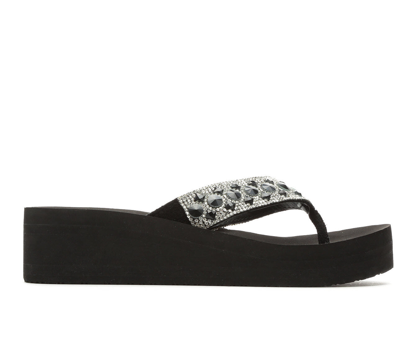 coupon deal Women's Yellow Box Rise Platform Sandals Black