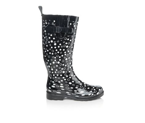 Women's Capelli New York Shiny Sprinkle Dots Tall Shaft Rain Boots