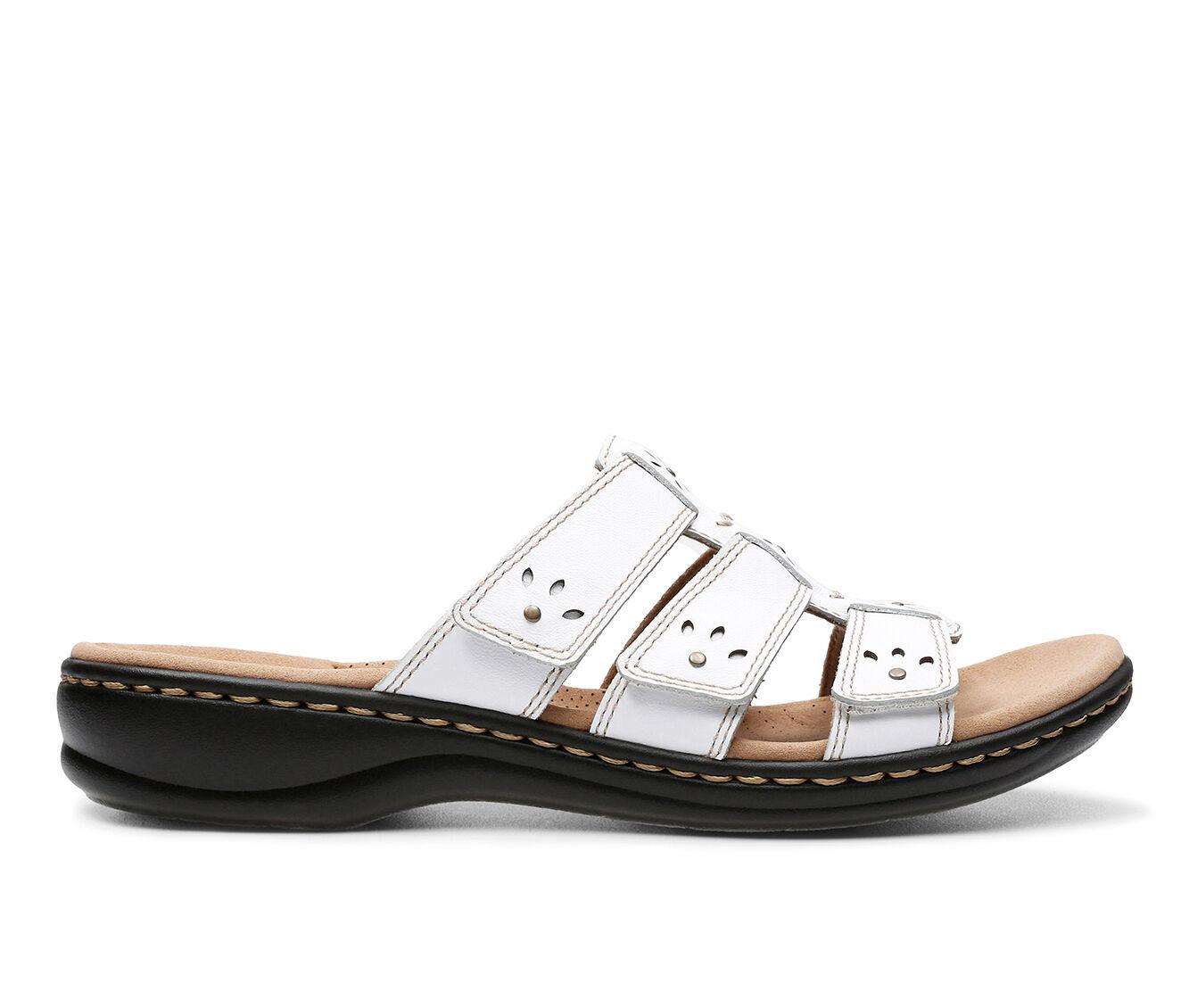Complete Price Women's Clarks Leisa Spring Sandals White Narrow