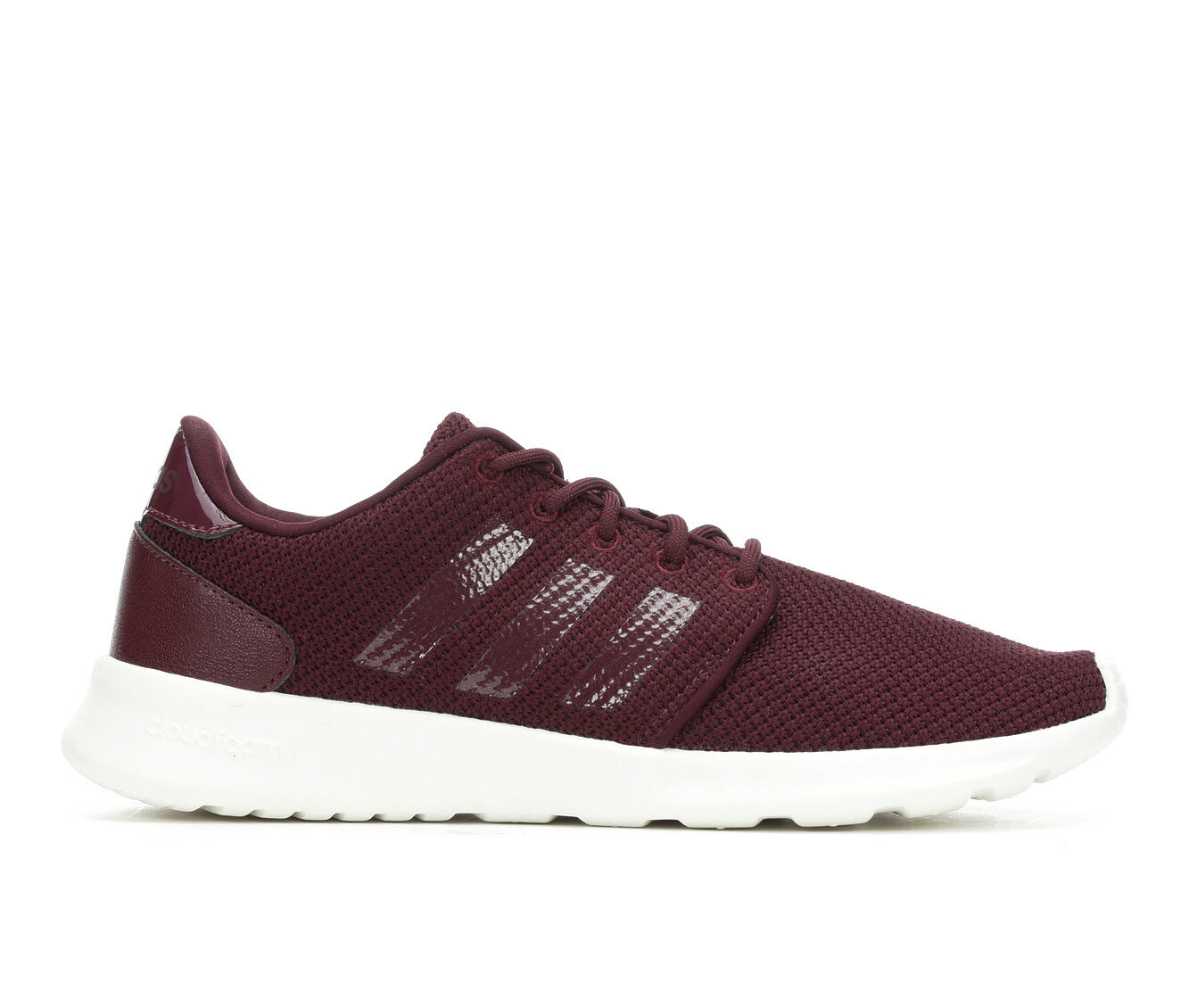 Price Down Women's Adidas Cloudfoam QT Racer Sneakers Maroon/White