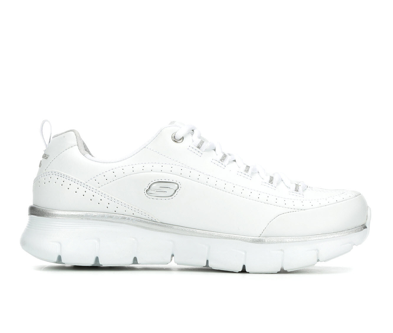 Women's Skechers Synergy 3.0 Sneakers White/Silver