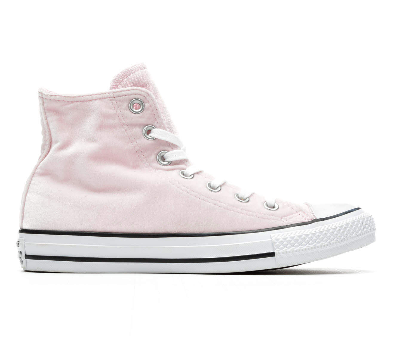 Chuck Taylor All Star Velvet Hi Top Trainers In Pink - Pink Converse tTGKt