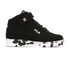 Girls' Fila Little Kid & Big Kid Vulc 13 Mid Mashup High Top Basketball Shoes