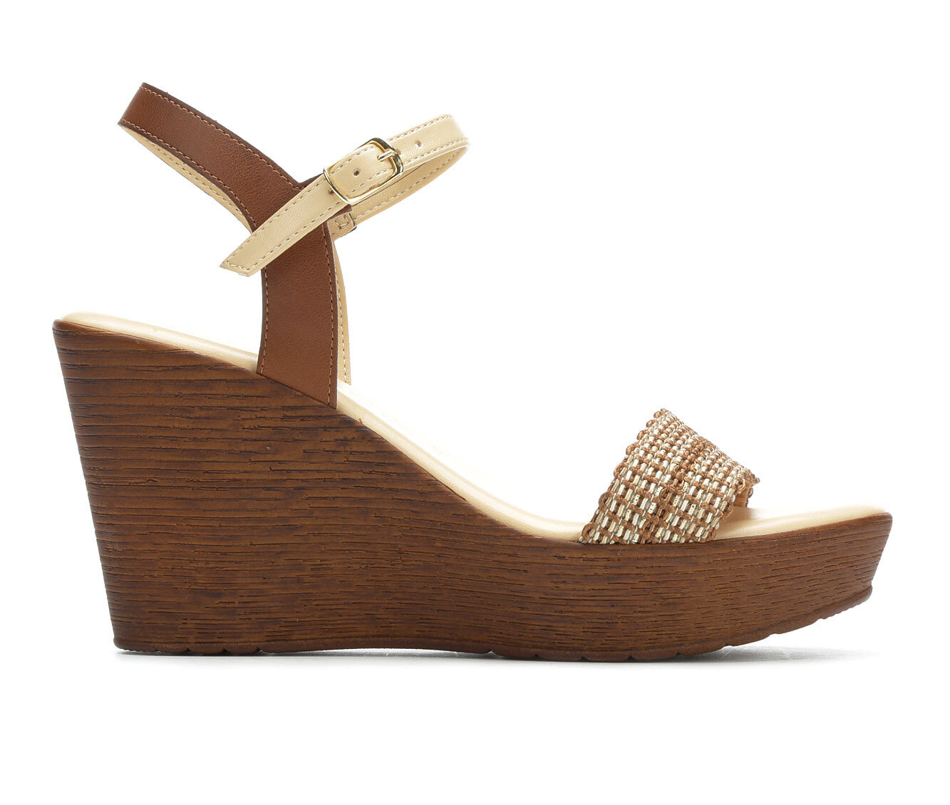 Women's Italian Shoemakers Awake Wedges Natural