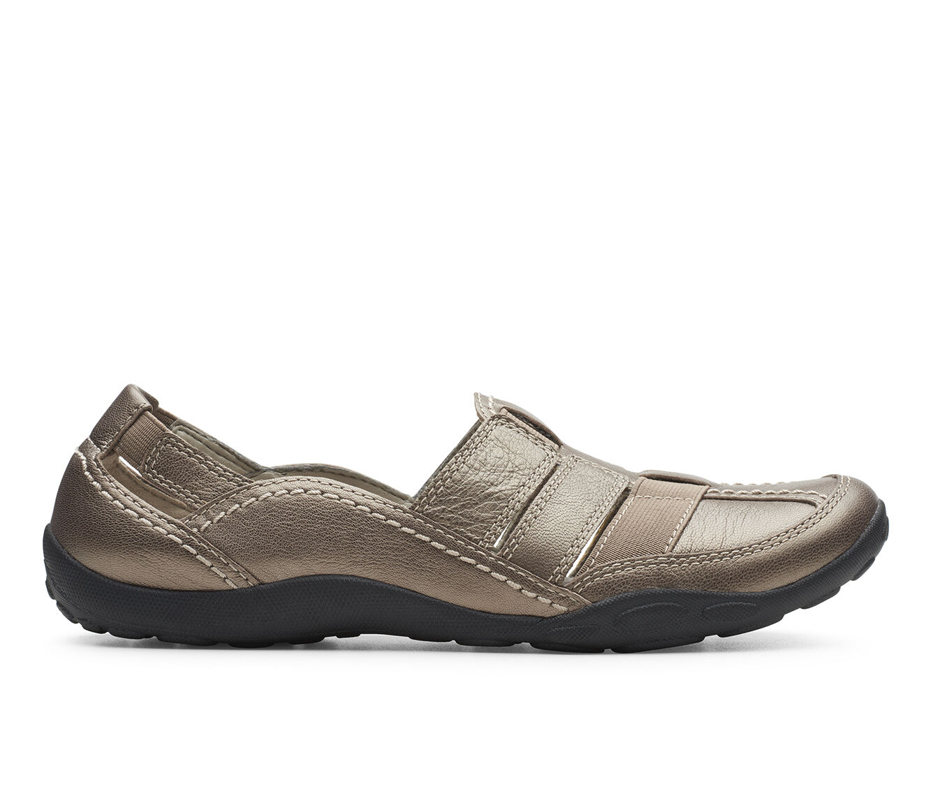Women's Clarks Haley Stork Pewter Leather