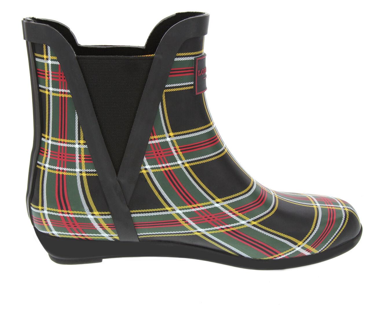 Women's London Fog Piccadilly Rain Boots Plaid
