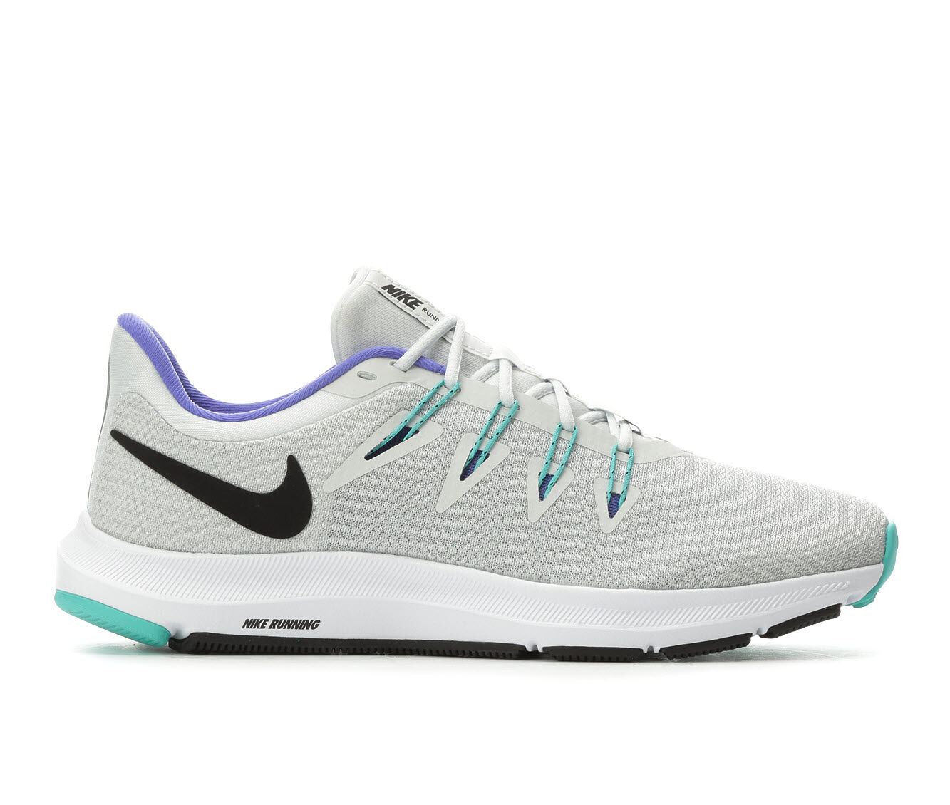 Women's Nike Quest Running Shoes White/Jade/Pur