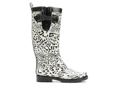 Women's Capelli New York Snow Leopard Rain Boots