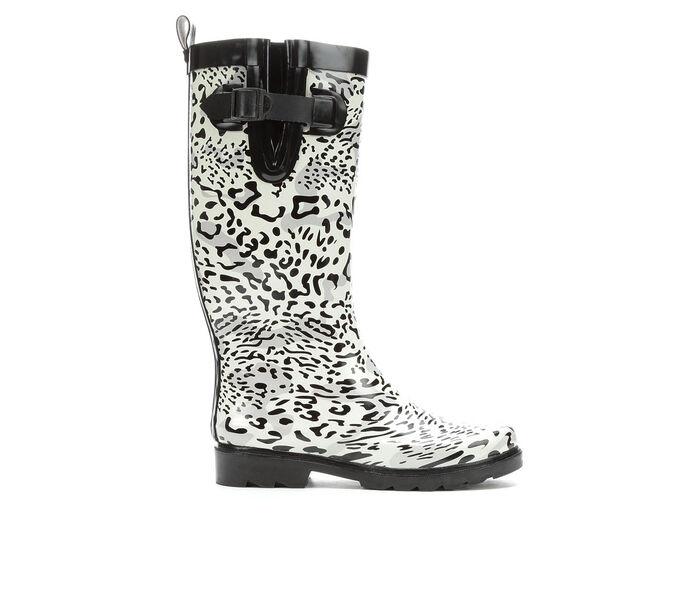 Women's Capelli New York Snow Leopard Rain Boots