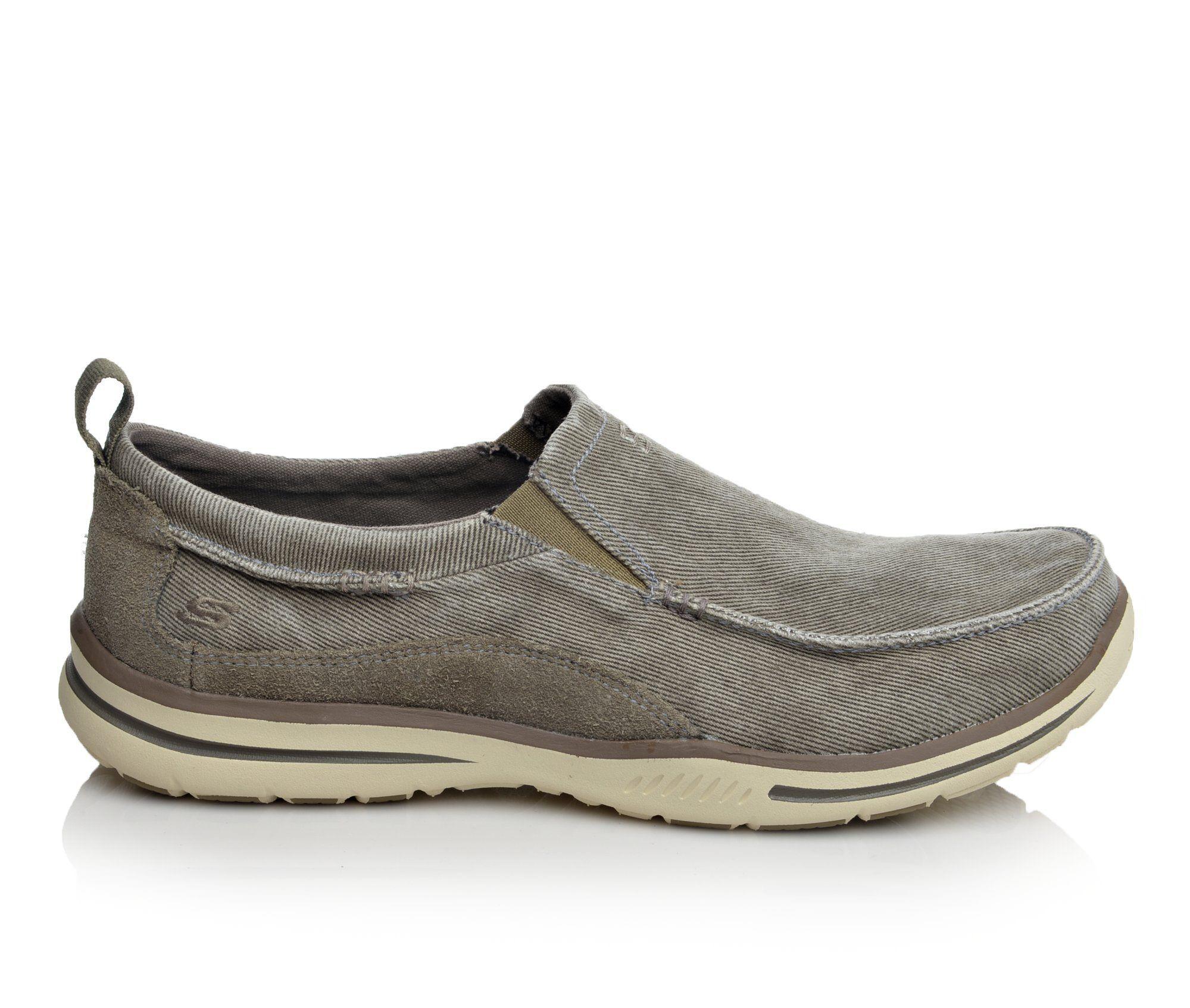 Men's Skechers Drigo 64654 Casual Shoes Taupe