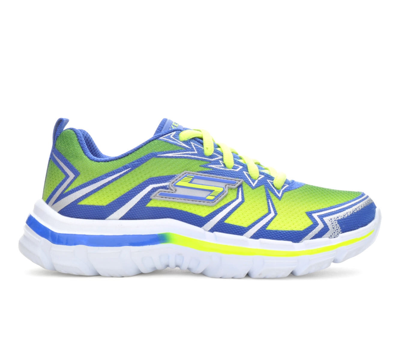 Skechers Shoes  Skechers Nitrate Wide 1057 Boys Sports Shoes LimeBlue