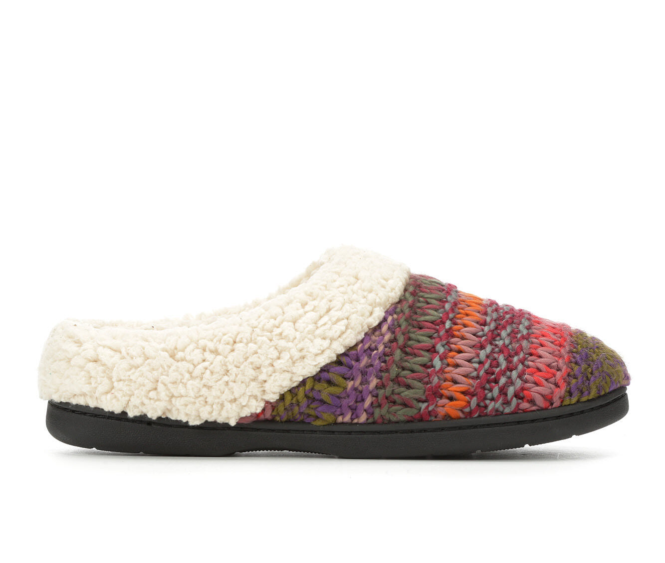 buy discount Dearfoams Chunky Knit Clog Red Multi