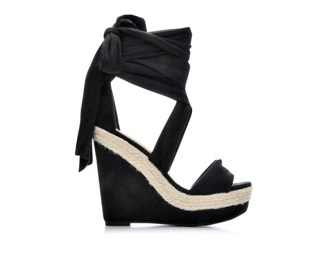 Women's Delicious Rhonda Lace-Up Platform Wedges
