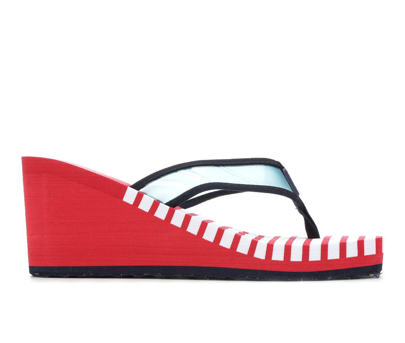 original brand Women's Nautica Tinley Sandals Red