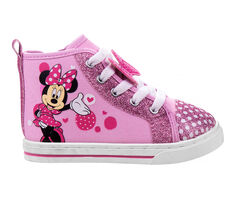 Girls' Disney Toddler & Little Kid Sparkle Minnie Mouse Canvas Sneakers
