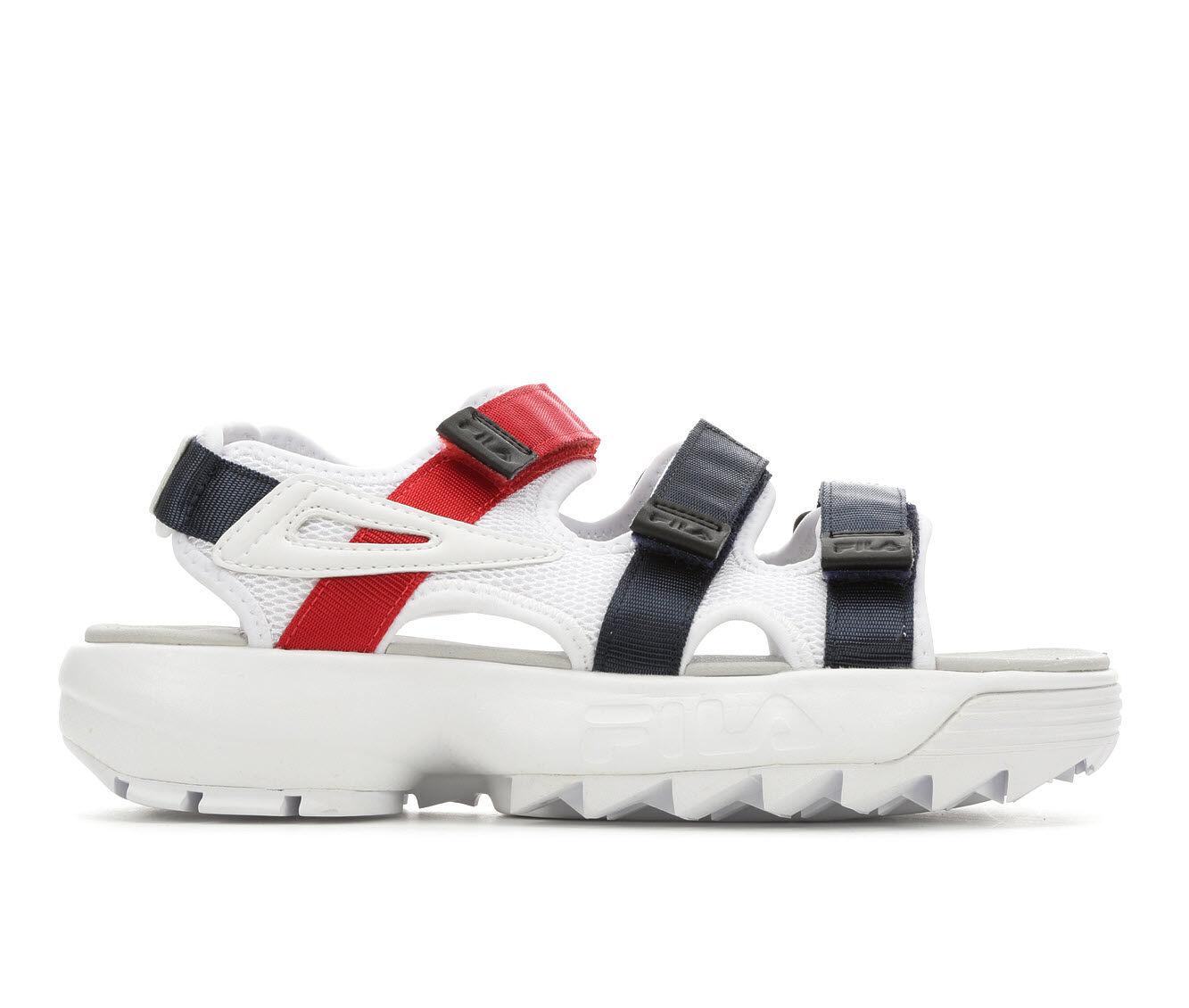 First Choice Women's Fila Disruptor Sandal Flatform Sandals White/Navy/Rd