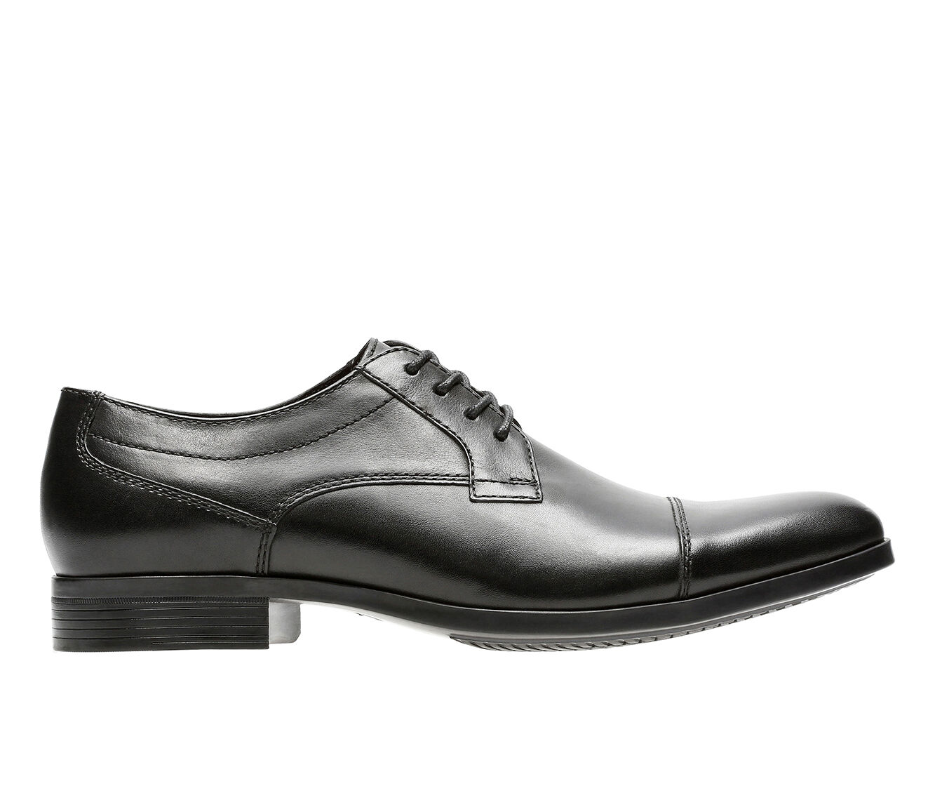 Men's Clarks Conwell Cap Dress Shoes Black