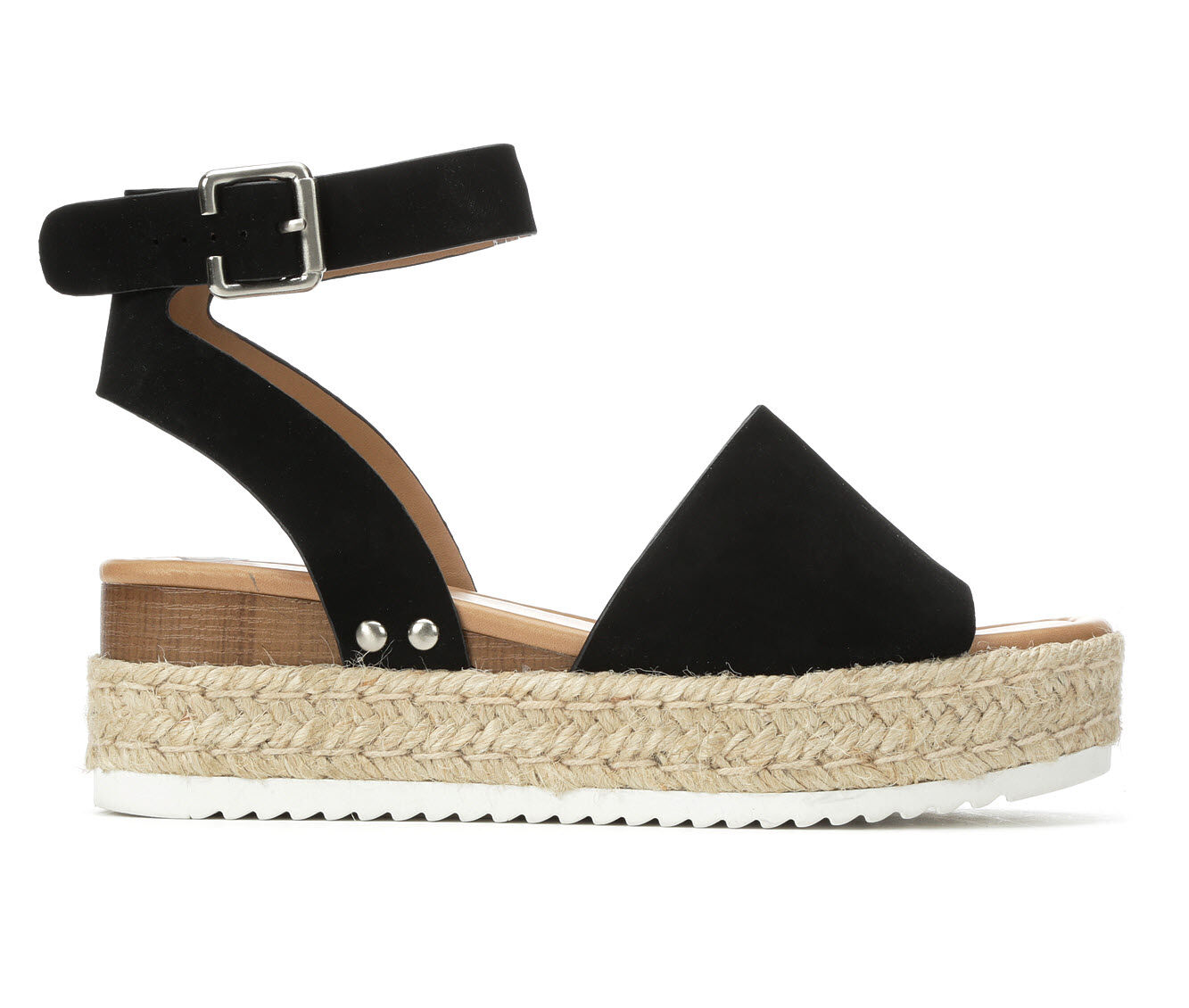 Women's Soda Topic Flatform Sandals Black