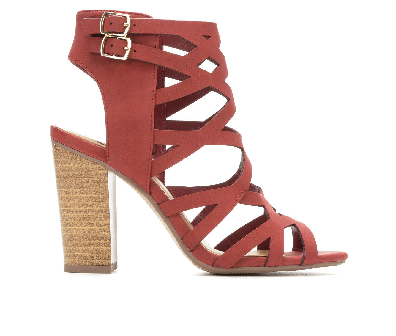 Women's Delicious Country Heeled Sandals Rust