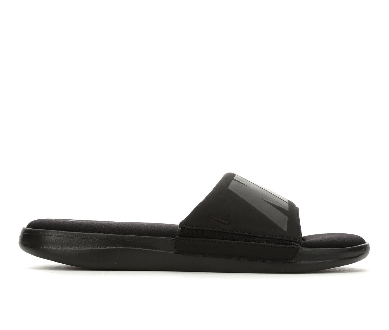a snip of the price Men's Nike Ultra Comfort 3 Sport Slides Blk/Blk/DkGrey