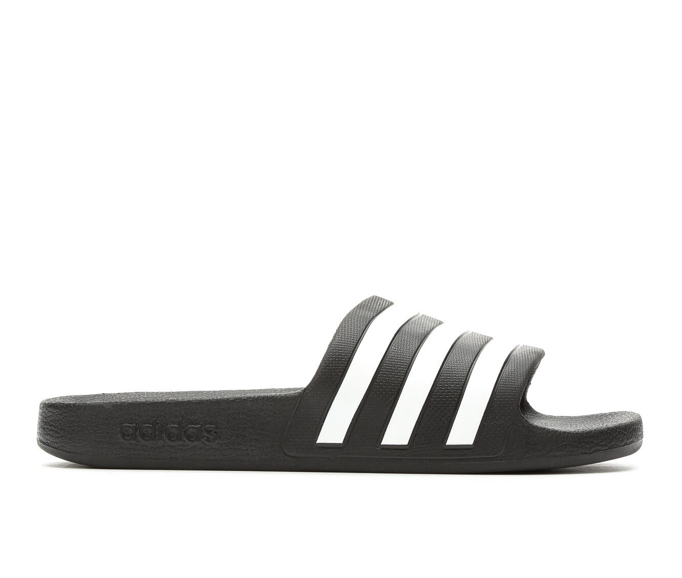 Trend Mark Women's Adidas Adilette Aqua Slides Black/White