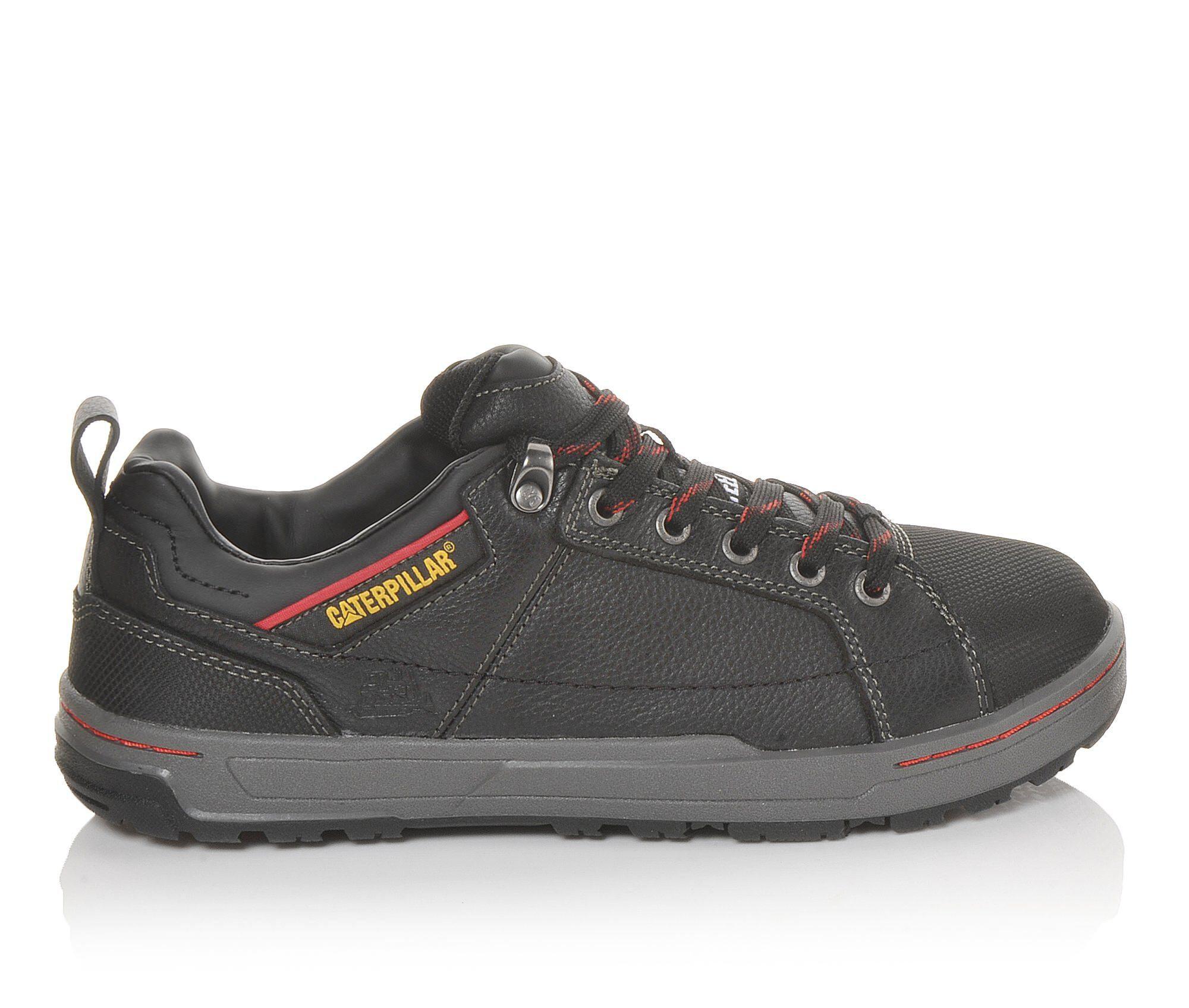 Men's Caterpillar Brode Steel Toe Oxford Work Shoes Black