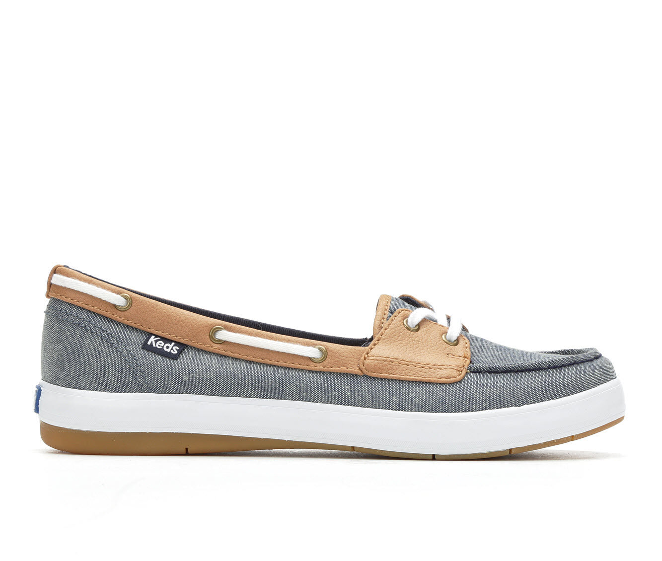 Women's Keds Charter Chambray Slip-On Shoes Blue