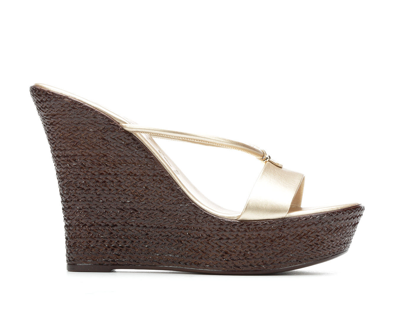 Women's Italian Shoemakers Dita Wedges Platinum