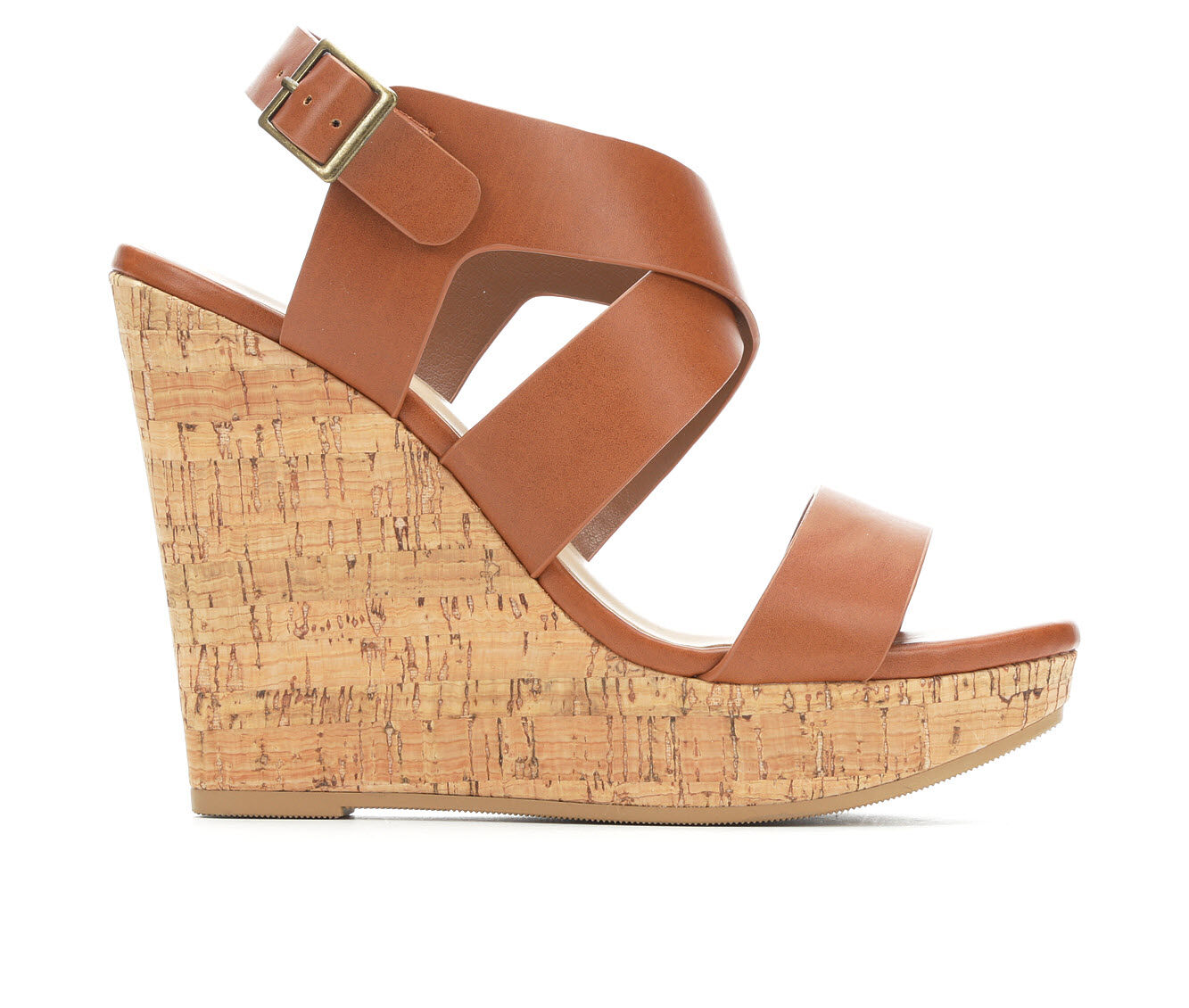 choose cheap best quality Women's Delicious Ontario Strappy Wedge Sandals Tan