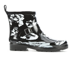 Women's Capelli New York Shiny Floral Short Rain Boots