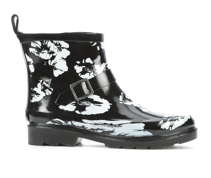 Women's Capelli New York Shiny Floral Short Rain Boots