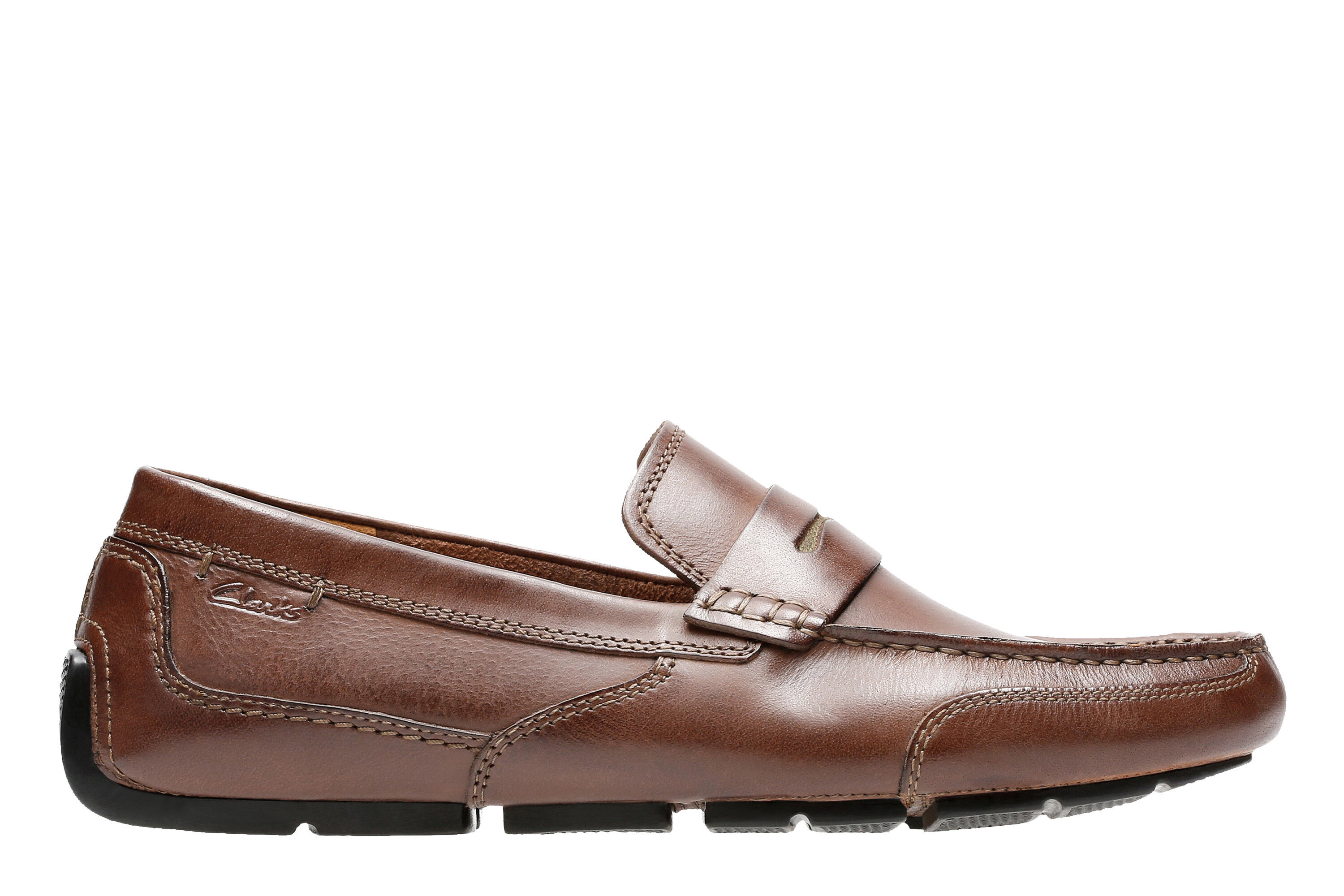 hot style Men's Clarks Ashmont Way Slip-On Shoes Cognac